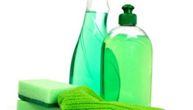 Glasreiniger und Spueli zum Fenster putzen